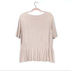 Ann Taylor Light Pink Ribbed Sweater EUC